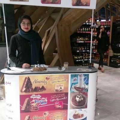 پروژه سمپلینگ و فروش کیک الموندی (Almondy)، شرکت نان و غذای نیوتیش (نماینده کیک های بدون گلوتن الموندی سوئد): (1) داخل هایپرمارکت ماهشام در مرکز خرید روشا (نیاوران) + (2) داخل آوا فود مارکت در مجتمع تجاری آوا سنتر (اقدسیه) + (3) داخل فروشگاه هرمزان (برج 10) در شهرک غرب (فاز 2) - زمستان 1397